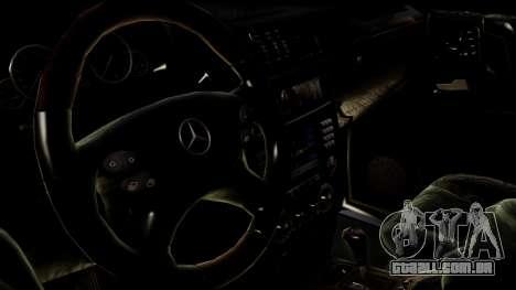 Mercedes-Benz G55 AMG para GTA San Andreas traseira esquerda vista