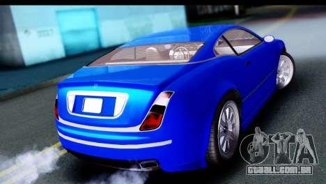 GTA 5 Enus Cognoscenti Cabrio para GTA San Andreas esquerda vista