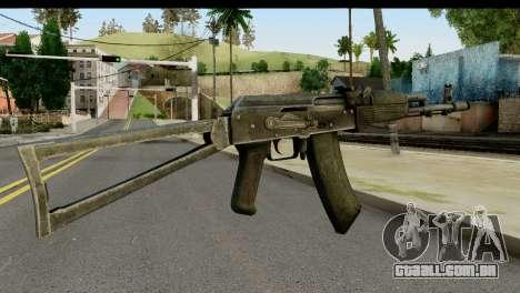 Plástico AKS-74 para GTA San Andreas segunda tela