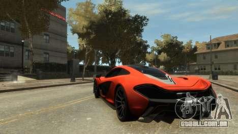 McLaren P1 2013 [EPM] para GTA 4 vista direita