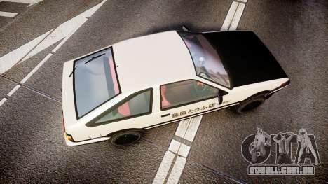 Toyota AE86 Tofu para GTA 4 vista direita