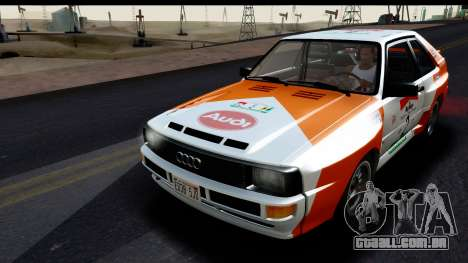 Audi Sport Quattro B2 (Typ 85Q) 1983 [HQLM] para GTA San Andreas vista inferior