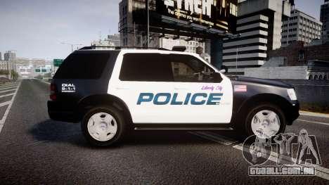 Ford Explorer 2008 Police [ELS] para GTA 4 esquerda vista
