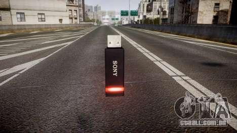 A unidade flash USB da Sony vermelho para GTA 4 segundo screenshot