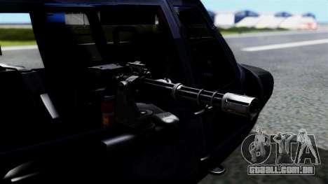 Harbin Z-9 BF4 para GTA San Andreas traseira esquerda vista