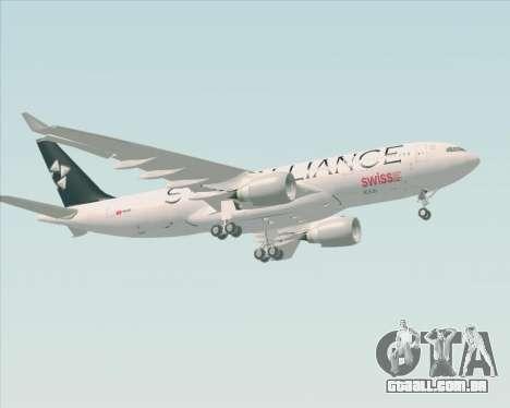 Airbus A330-200 SWISS (Star Alliance Livery) para vista lateral GTA San Andreas