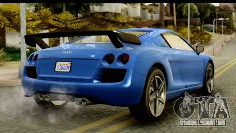 GTA 5 Obey 9F Coupe IVF para GTA San Andreas esquerda vista