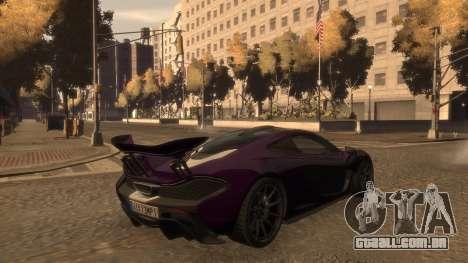 McLaren P1 2013 [EPM] para GTA 4 vista lateral