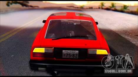 Nissan S130 para GTA San Andreas vista traseira