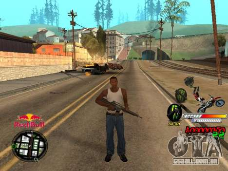 С-HUD RedBull para GTA San Andreas por diante tela