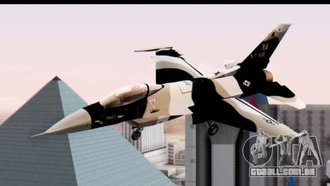 F-16 Aggressor Squadron Alaska Black Camo para GTA San Andreas