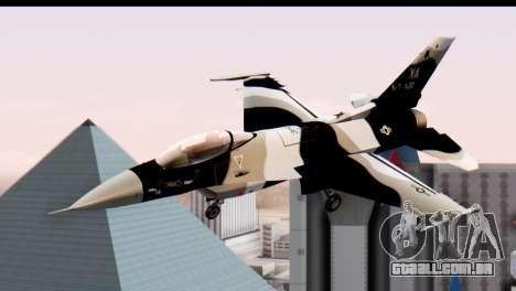 F-16 Aggressor Squadron Alaska Black Camo para GTA San Andreas traseira esquerda vista