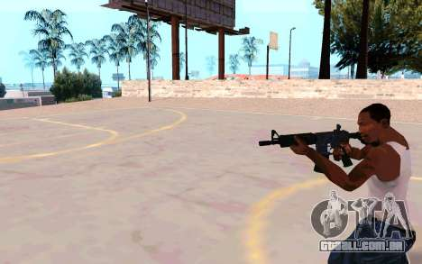 M4A1 (Dodgers) para GTA San Andreas por diante tela