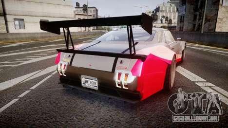 Declasse Sabre GT-R para GTA 4 traseira esquerda vista