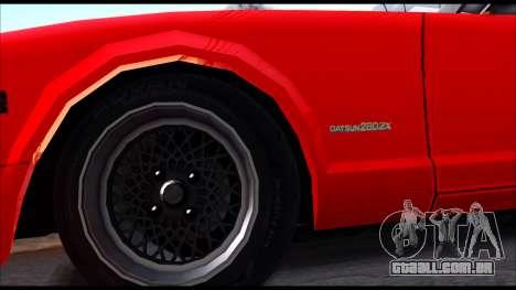 Nissan S130 para GTA San Andreas traseira esquerda vista