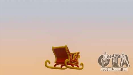 Santa Claus Sleigh para GTA San Andreas esquerda vista