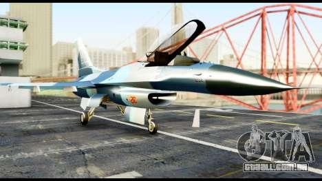 F-16 Aggressor Alaska para GTA San Andreas vista direita