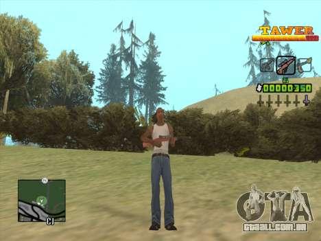 С-HUD por D. Correia para GTA San Andreas por diante tela