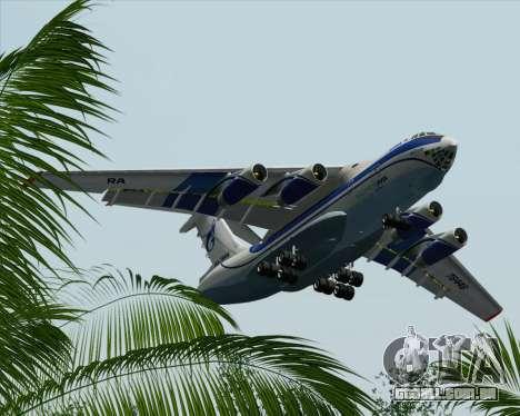 IL-76TD Gazprom Avia para GTA San Andreas vista inferior
