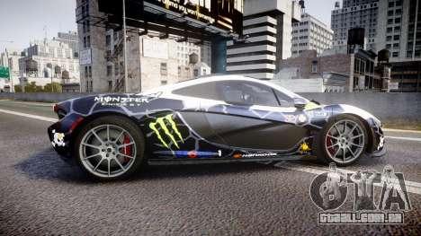 McLaren P1 2014 [EPM] Ken Block para GTA 4 esquerda vista