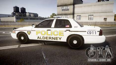 Ford Crown Victoria Police Alderney [ELS] para GTA 4 esquerda vista