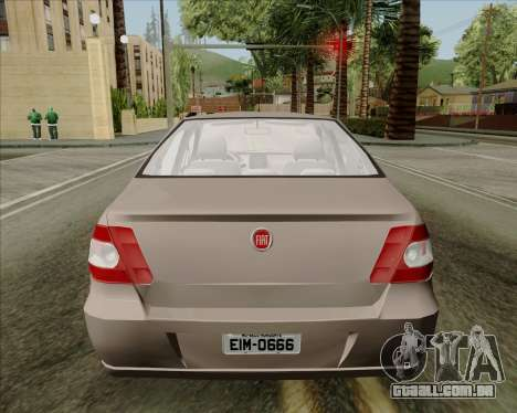 Fiat Siena 2008 para GTA San Andreas vista traseira