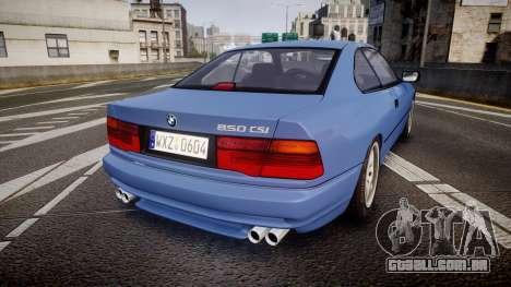BMW E31 850CSi 1995 [EPM] para GTA 4 traseira esquerda vista