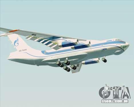 IL-76TD Gazprom Avia para GTA San Andreas vista interior