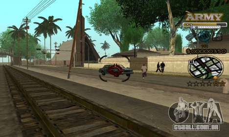 C-HUD Army para GTA San Andreas quinto tela