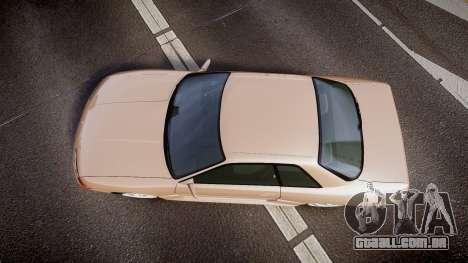 Nissan Skyline R32 GT-R 1993 para GTA 4 vista direita