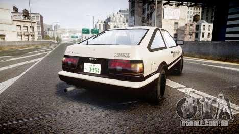 Toyota AE86 Tofu para GTA 4 traseira esquerda vista