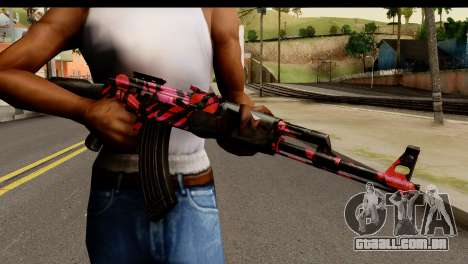 Red Tiger AK47 para GTA San Andreas terceira tela