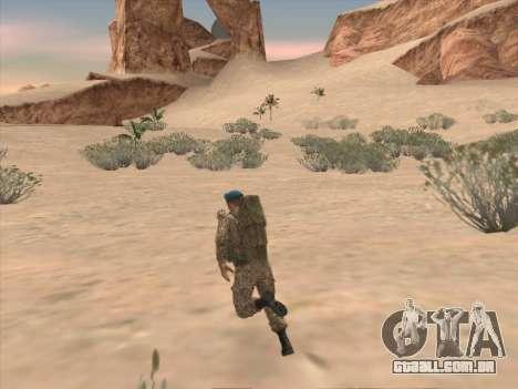 Granadeiro de tropas aerotransportadas da Federa para GTA San Andreas sexta tela