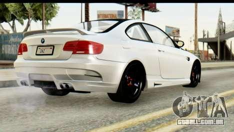 BMW M3 GTS Tuned v1 para GTA San Andreas vista interior