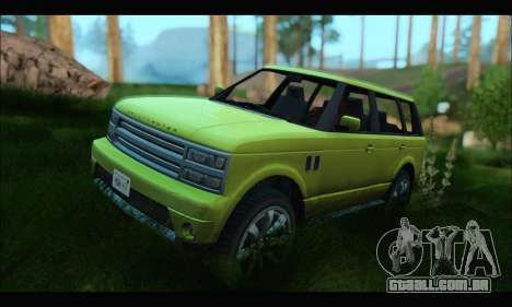 Gallivanter Baller I (GTA V) para GTA San Andreas