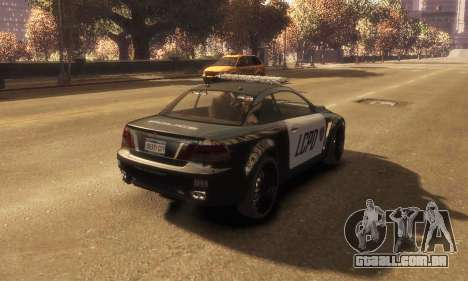 GTA V Ubermacht Sentinel Police [ELS] para GTA 4 esquerda vista
