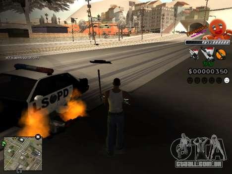 C-HUD Cookie para GTA San Andreas terceira tela