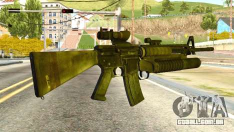 Assault Rifle from Global Ops: Commando Libya para GTA San Andreas segunda tela