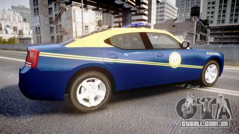 Dodge Charger West Virginia State Police [ELS] para GTA 4 esquerda vista