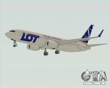 Boeing 737-800 LOT Polish Airlines para GTA San Andreas vista traseira