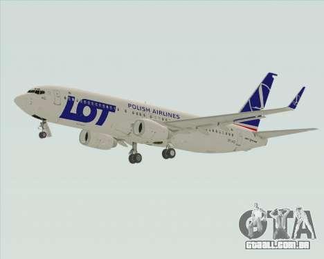 Boeing 737-800 LOT Polish Airlines para GTA San Andreas vista traseira