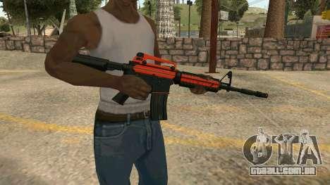 Orange M4A1 para GTA San Andreas