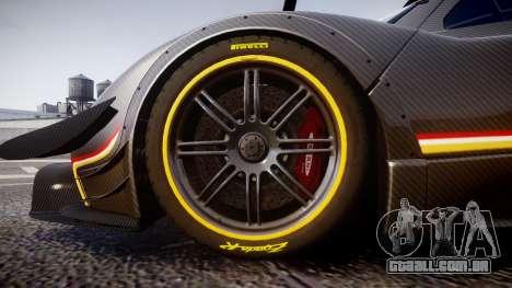 Pagani Zonda Revolution 2013 para GTA 4 vista de volta