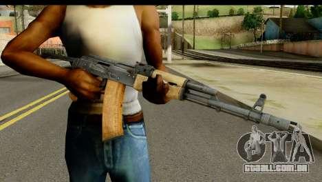 AKS-74 Madeira clara para GTA San Andreas terceira tela