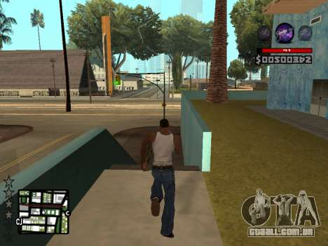 C-HUD by Granto para GTA San Andreas por diante tela
