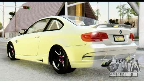 BMW M3 GTS Tuned v1 para GTA San Andreas esquerda vista