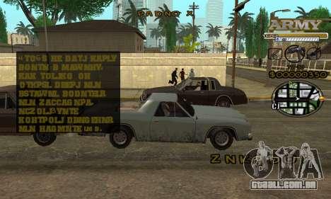 C-HUD Army para GTA San Andreas segunda tela