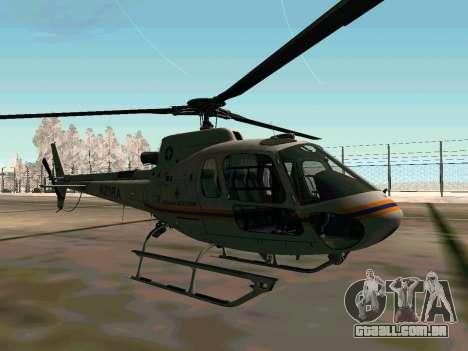 Bo 105 EMERCOM da Rússia para GTA San Andreas vista direita