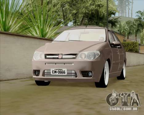 Fiat Siena 2008 para GTA San Andreas vista direita