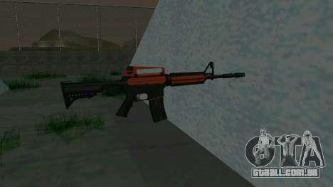 Orange M4A1 para GTA San Andreas terceira tela